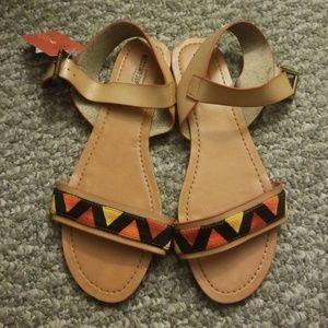 NWT Brown Aztec Sandal
